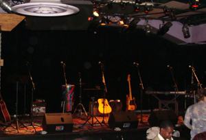 Stage at Jammin' Java - Picture by Elayne Mellen